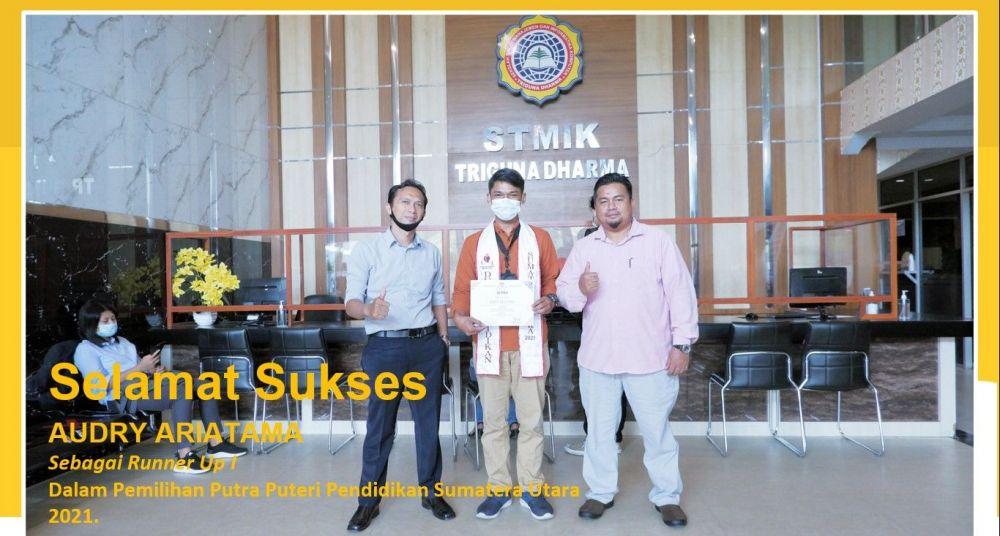Mahasiswa STMIK Triguna Dharma mendapatkan Runner UP pada pemilihan putera puteri pendidikan sumatera utara 2021. yang di selenggarakan pada 04 April 2021