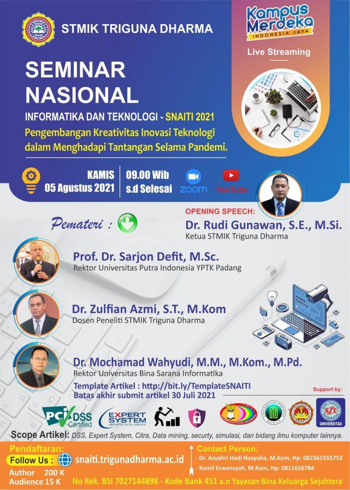 Seminar Nasional Informatika dan Teknologi SAINTI 2021