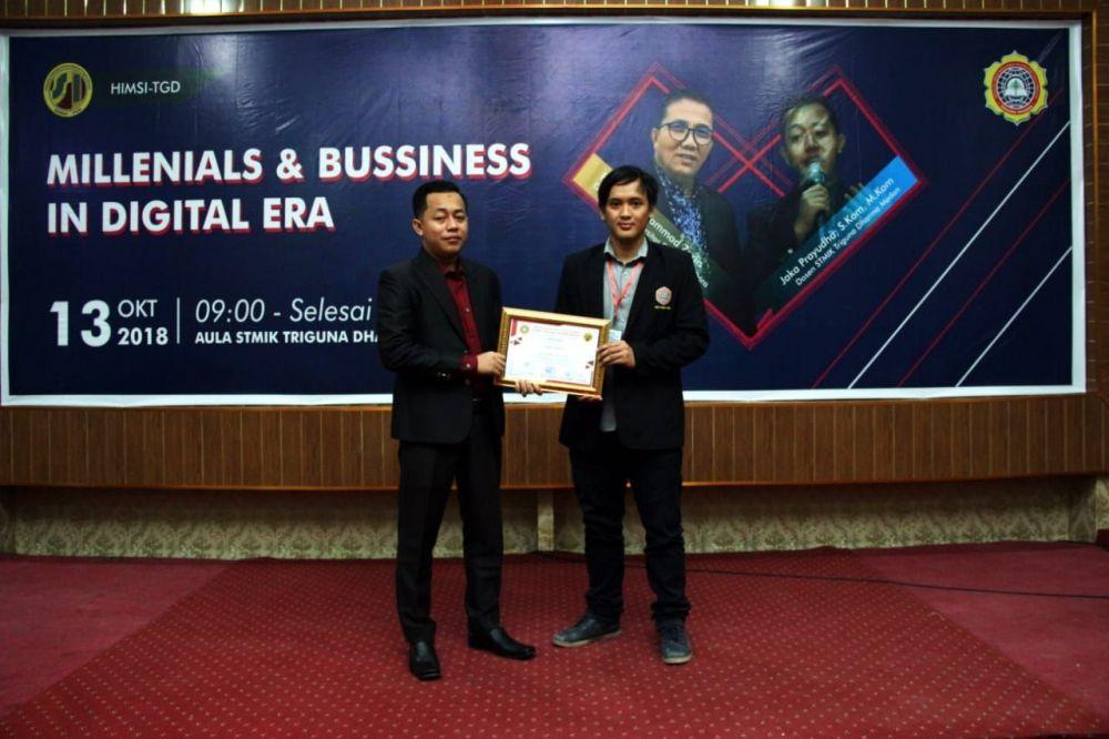Seminar millemial and business in digital era oleh HIMSI. Sabtu, 13 0ktober 2018