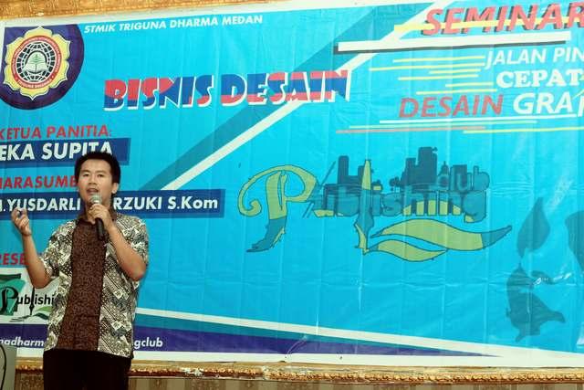 Seminar Jalan Pintas Cepat Mahir Desain Grafis oleh STMIK Triguna Dharma
