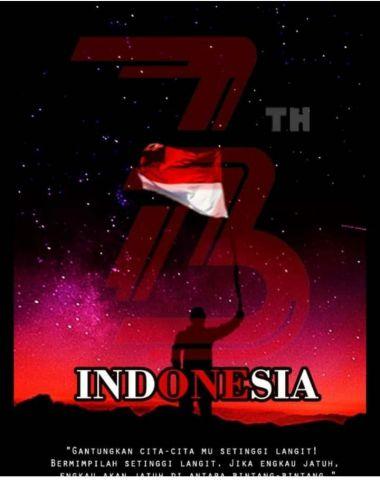 lomba design dengan tema  DIRGAHAYU REPUBLIK INDONESIA  yang dilaksanakan club publising 18 Aug 2018
