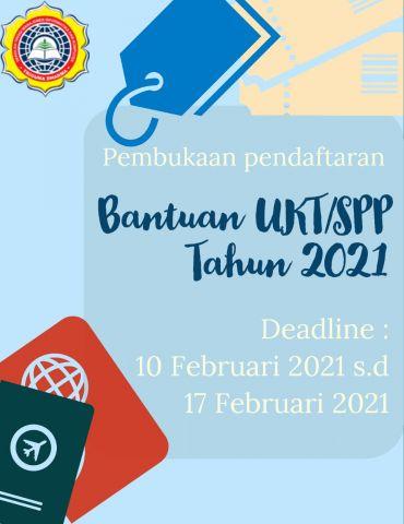 Pembukaan pendaftaran bantuan UKT/SPP Tahun 2021