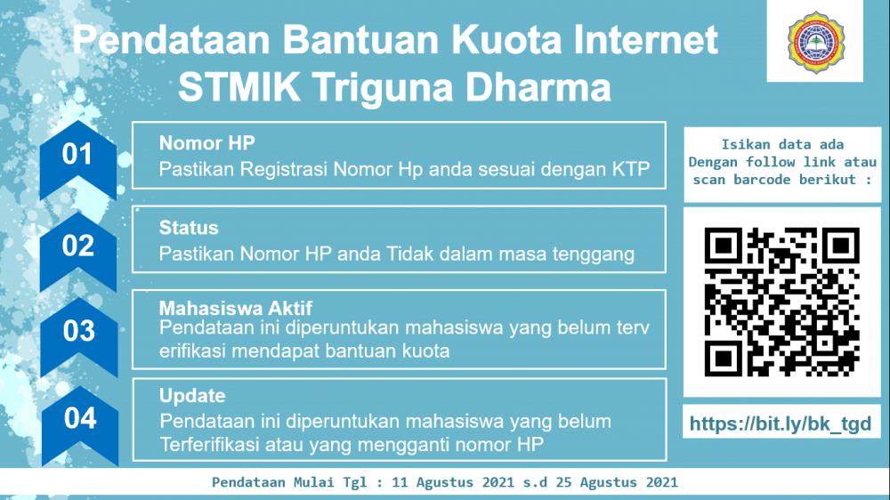 Pendataan Bantuan Kuota Internet Mahasiswa STMIK Triguna Dharma